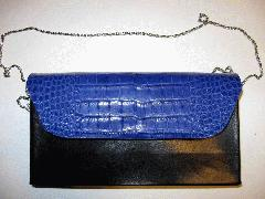 Cobalt Blue Alligatrix Flap Bag Front Closed - Web.JPG